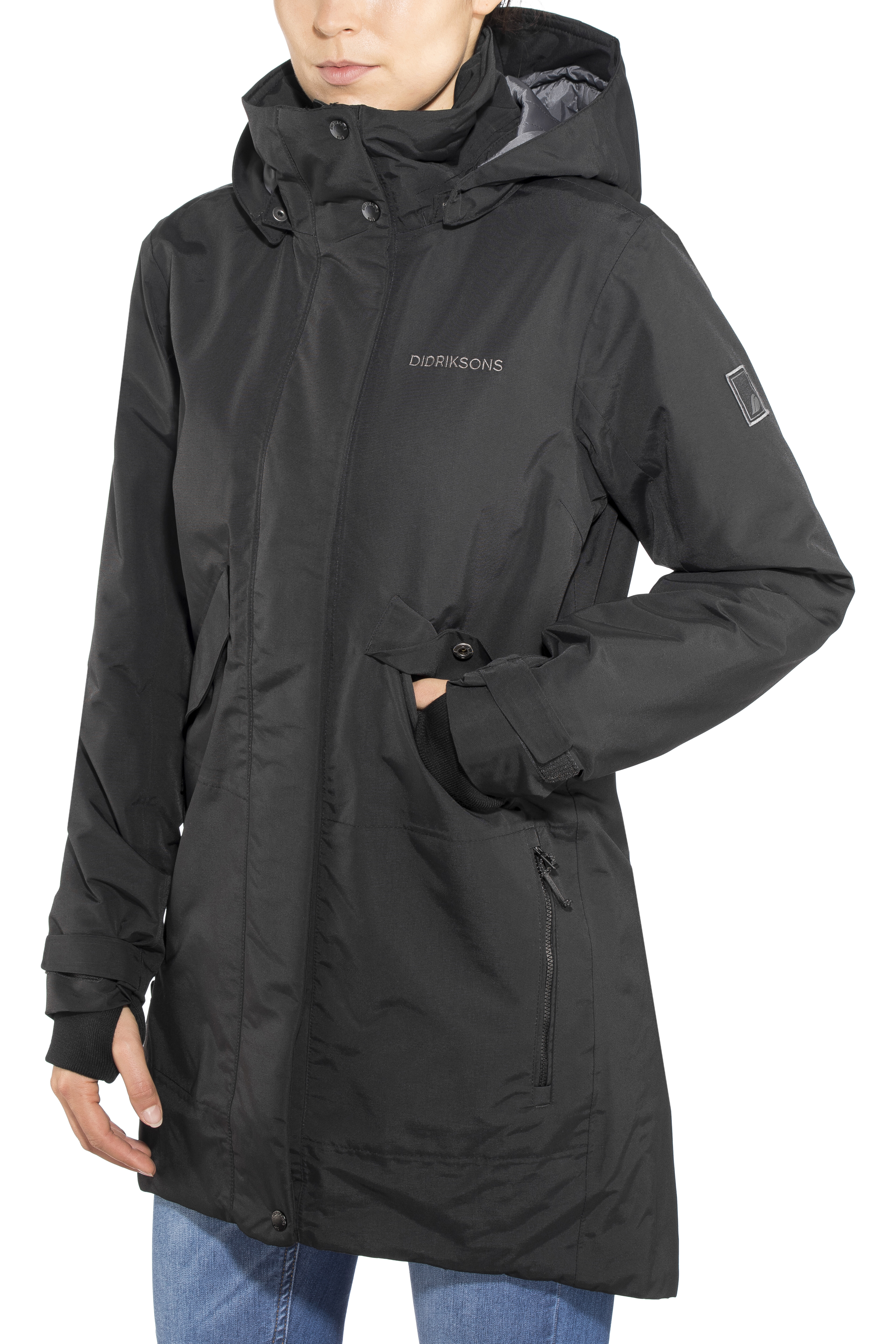 37033abe Didriksons 1913 Tanja Parka Women black at Addnature.co.uk